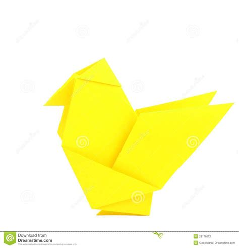 origami chicken origami chicken stock photography image 29176072