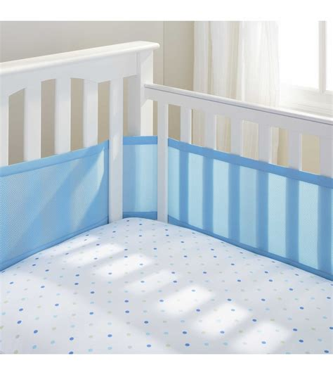 breathable baby crib liner breathable baby mesh crib liner blue mist