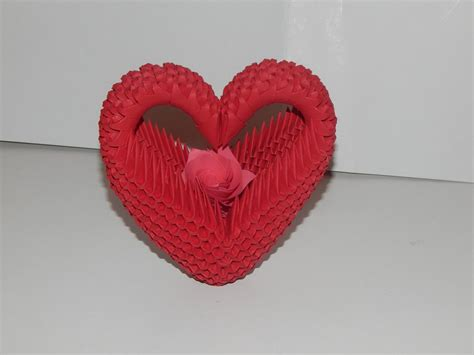 3d origami hearts how to make 3d origami model2 part1