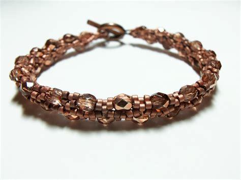 copper bead bracelet copper bracelet beaded jewelry bright copper sead copper