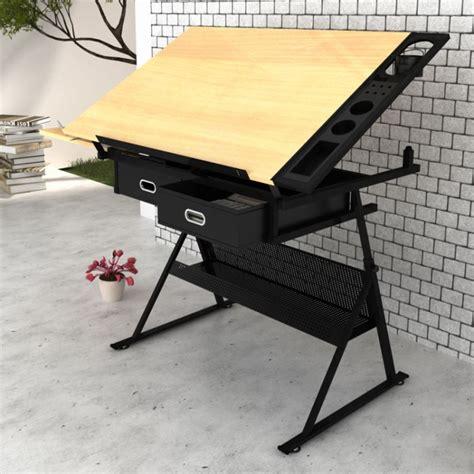 drafting table stool tilt drawing drafting table w 2 drawers stool buy