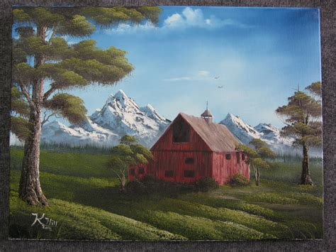 acrylic painting kevin quot barn quot by kevin hill landscape paintings