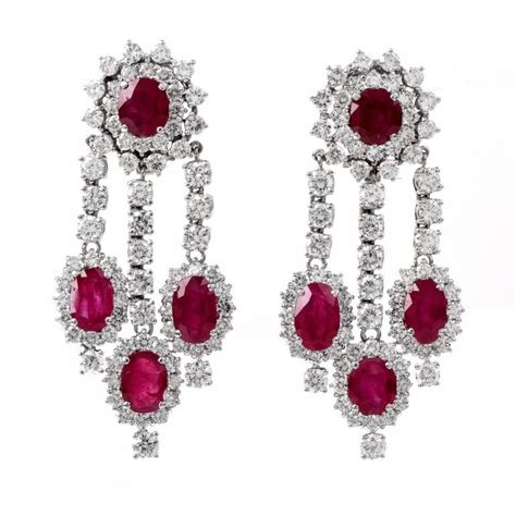 ruby chandelier ruby gold chandelier earrings for sale at 1stdibs