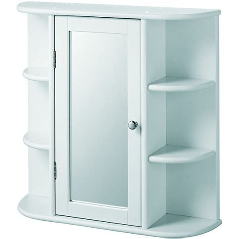 bathroom shelves with mirror wickes bathroom single mirror cabinet with 6 shelves white