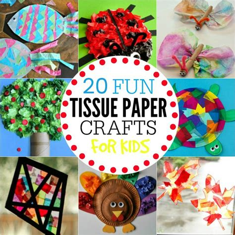 all paper crafts tissue paper crafts for 20 tissue crafts that