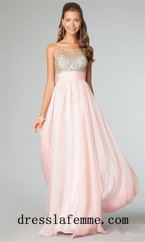 beaded prom dresses 2014 cheap blush beaded sheer prom dresses stylecaster