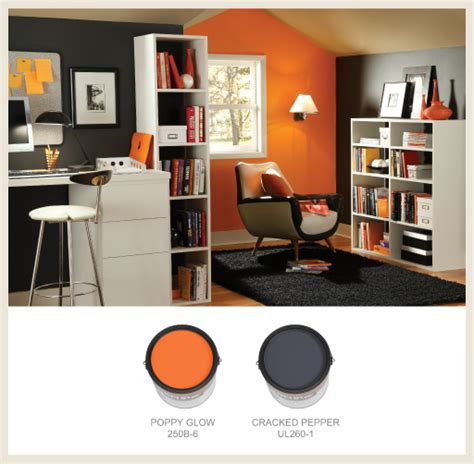 behr paint colors orange glow colorfully behr home office color