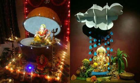 home decoration for ganesh festival ganesh chaturthi 2016 simple yet insanely beautiful
