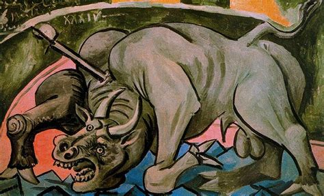 picasso paintings description dying bull 1934 by pablo picasso