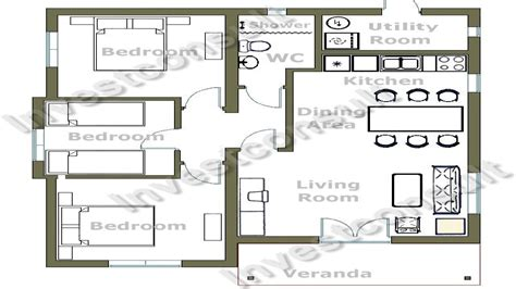 simple 4 bedroom floor plans small 4 bedroom floor plans architectural designs small