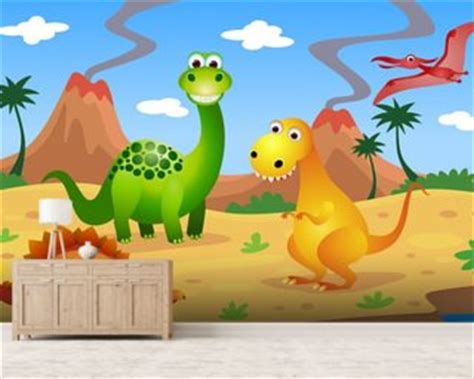 dinosaurs murals walls dinosaur wallpaper wall murals wallsauce