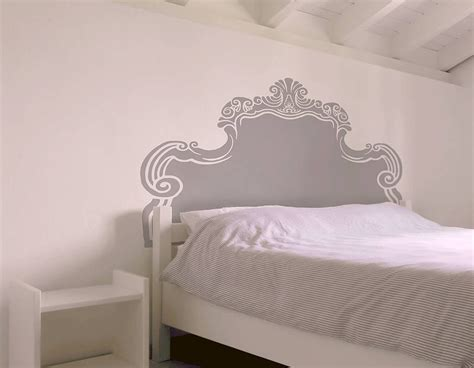 vintage bed headboard wall sticker contemporary wall