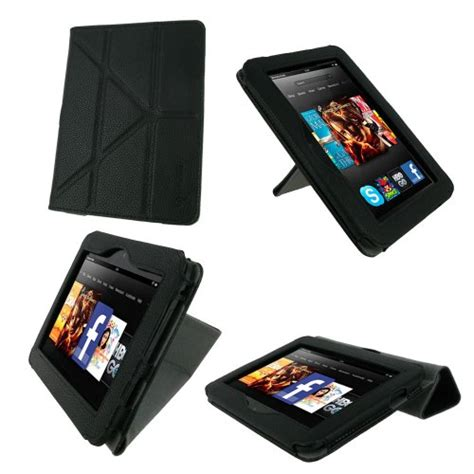 kindle hd 7 origami roocase origami dual view black for 2012 kindle