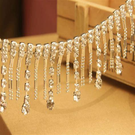 bead trim 30cm length simulation pearl beaded lace trim