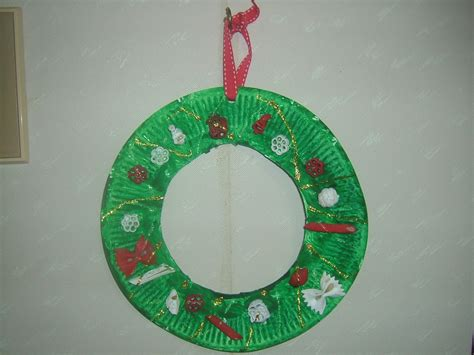 paper wreath craft preschool crafts for easy paper plate