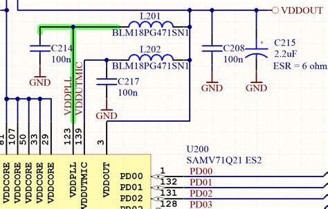 ferrite bead filter design oscillation ferrite bead resonance electrical