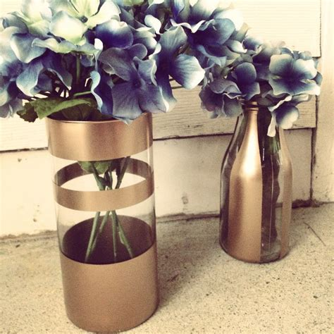 spray painter diy diy gold spray painted vases with flowers my design