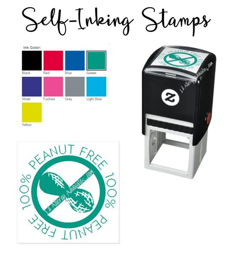 rubber sts self inking self inking rubber allergen sts lil allergy advocates