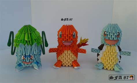 origami bulbasaur 1st starter origami 3d by sfa87 on deviantart