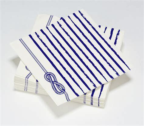 bleu oc 233 an serviette noeud marin le nappage