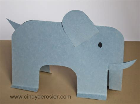 elephant paper craft paper elephant family crafts