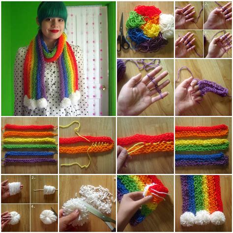 how to finger knit a scarf wonderful diy finger knitting scarf