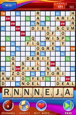 scrabble iphone minireview scrabble for iphone ipod touch ars technica