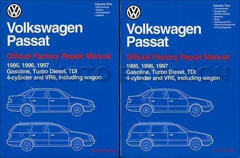 service manual old car repair manuals 1997 volkswagen eurovan parental controls thesamba com 1995 1997 vw passat repair shop manual 2 volume set