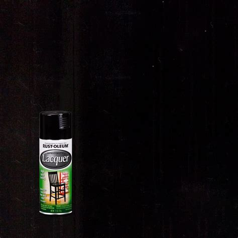 home depot spray paint black rust oleum specialty 11 oz gloss black lacquer spray