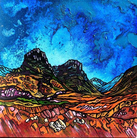 spray painting scotland glencoe scottish highlands painting and prints by