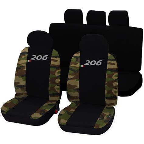 housses de siege deux colores pour peugeot 206 noir camouflage ebay