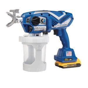 home depot graco magnum x7 airless paint sprayer graco tc pro cordless airless paint sprayer 17n166 the