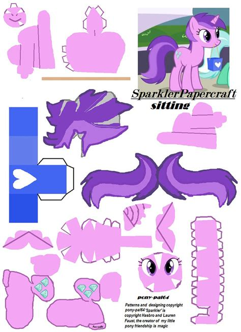my pony paper crafts sparkler papercraft by pony pal64 papercraft mlpony