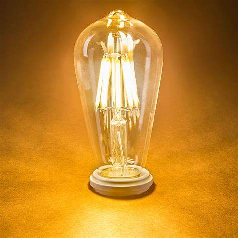 antique light bulbs st18 led filament bulb 70 watt equivalent led vintage
