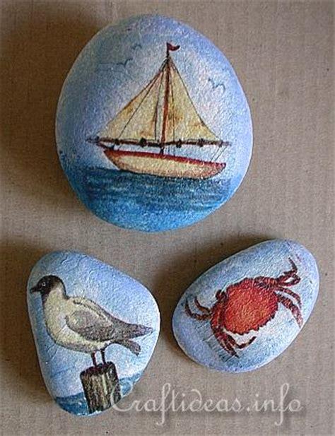 decoupage rocks decoupage stones