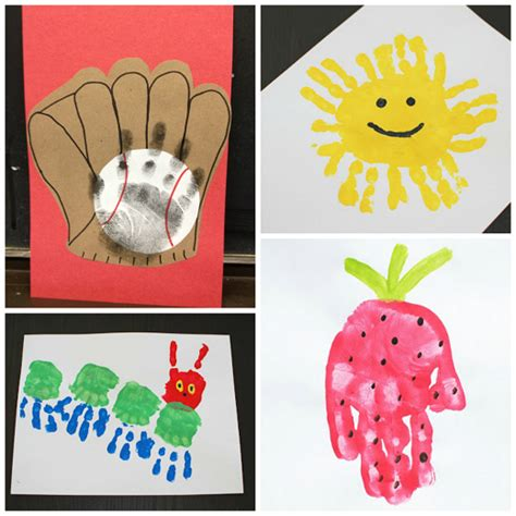 kid crafts for summer summer handprint crafts for to make crafty morning