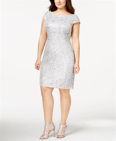 plus size beaded dress papell plus size sequined lace shift dress in