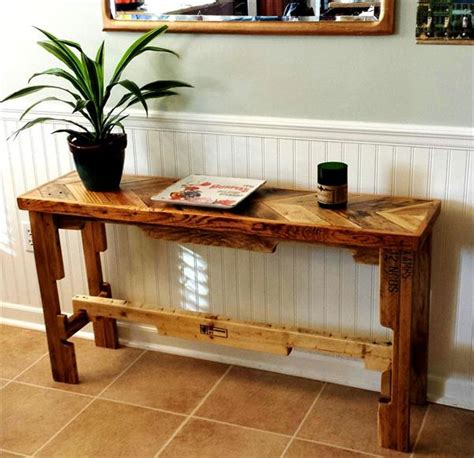 sofa table made from pallets diy chevron top pallet sofa side table pallet furniture