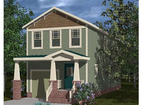 house plans for narrow lots with front garage narrow lot house plans craftsman style narrow lot home plan 058h 0066 at thehouseplanshop