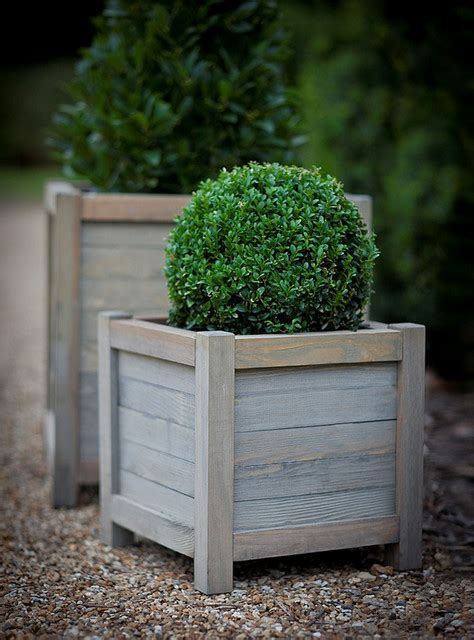 outdoor wooden planters wooden 40cm planter modern outdoor pots and planters