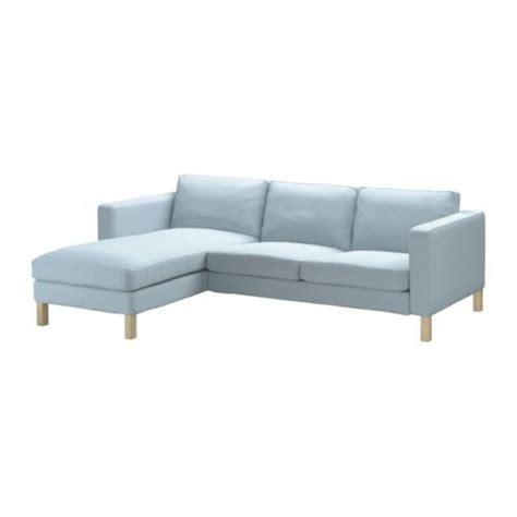 light blue sofa slipcover ikea karlstad 2 seat loveseat sofa and chaise slipcover