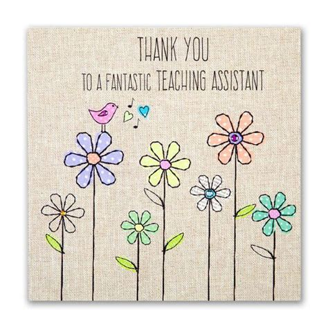 you cards teaching assistant thank you card karenza paperie