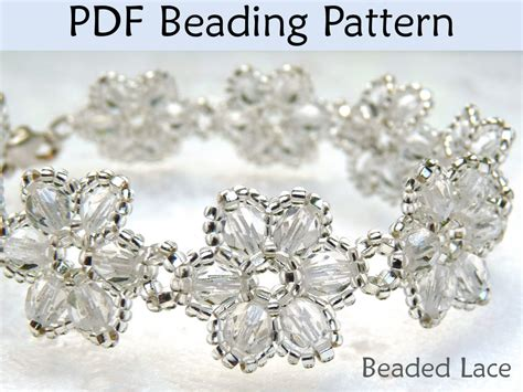flower bead bracelet pattern beading tutorial pattern bracelet necklace flowers