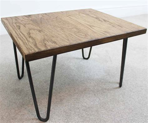 industrial steel coffee table trace hairpin industrial coffee table oak and