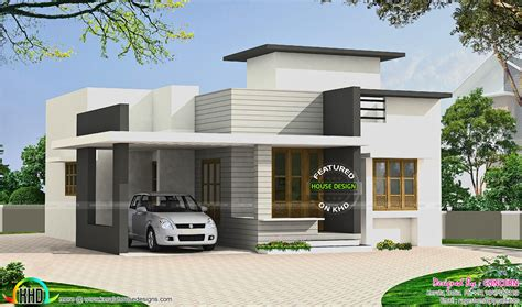 flat home design small budget flat roof house kerala home design and