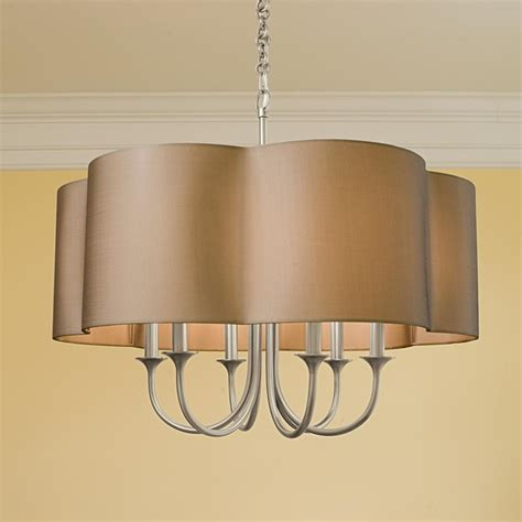 lshade chandelier mod pendant shade chandelier 6 light l shades by
