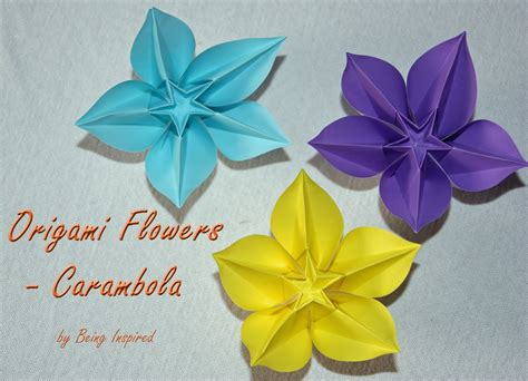origami flower being inspired origami carambola flowers
