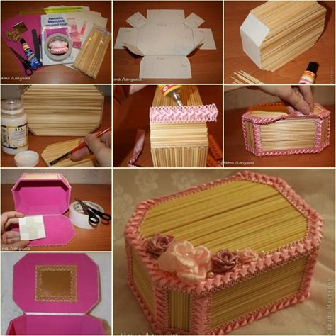 how to make cardboard jewelry boxes how to make beautiful jewelry box from wood sticks fab