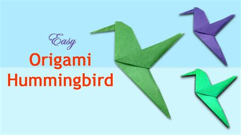 origami hummingbird tutorial how to make an origami hummingbird paper bird craft