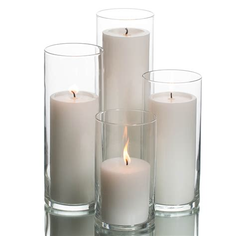 Candle Cylinders by Eastland Cylinders Richland Pillar Candles Set Of 4